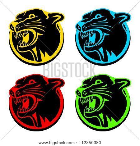 Vector Artistic Puma Head Mascot Illustration