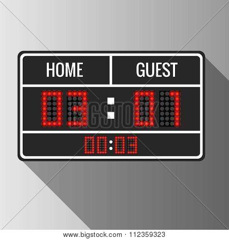 Sport vector scoreboard