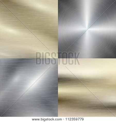 Polished metal, steel texture vector background