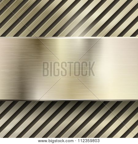 Abstract metal vector background