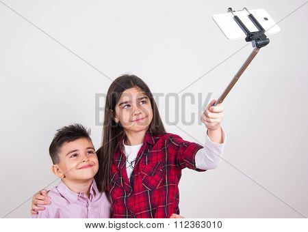Children Doing Selfie