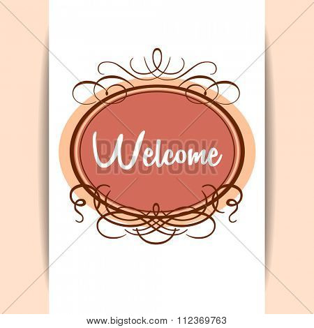 Welcome - design template invitation. Gala decorations.