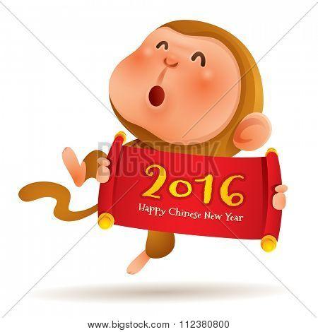 Chinese Zodiac - Monkey. Chinese New Year 2016.