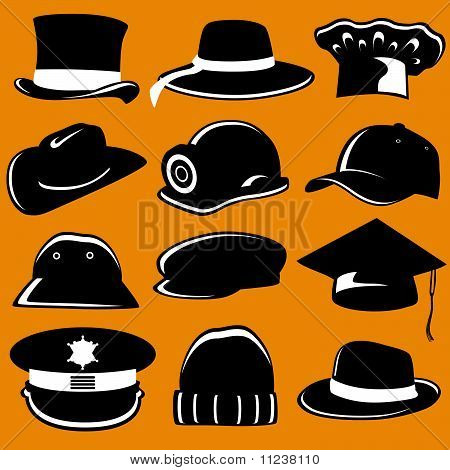 collection of hat