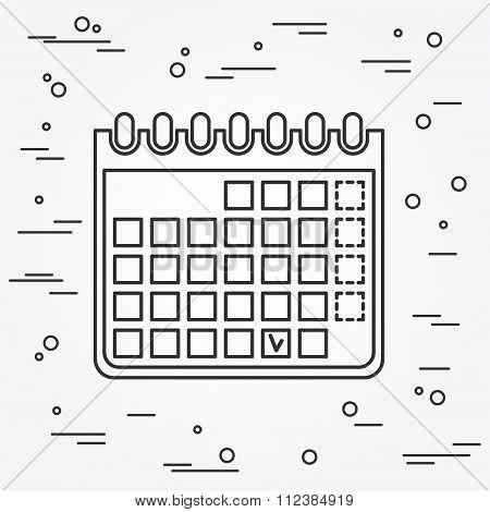 Calendar Icon. Calendar Icon Vector.calendar Icon Drawing. Calendar Icon Image. Calendar Icon Graphi