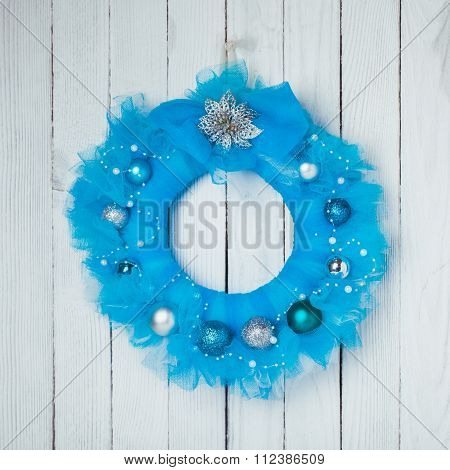 Christmas guipure wreath