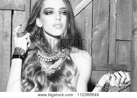 Pretty Woman With Jewellery