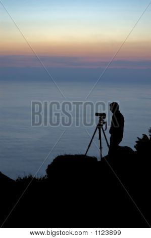 Photographer Near The Atlantic Sea