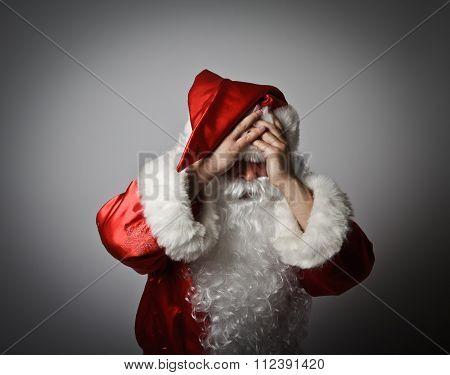 Frustrated Santa Claus