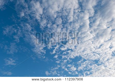 Altocumulus Clouds And Blue Sky