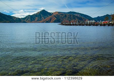 Lake Chuzenji at Nikko National Park in Tochigi Prefecture in Japan