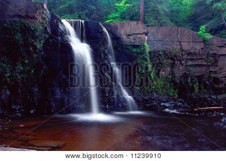 Manabezho Falls - Michigan