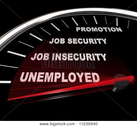 Unemployment - Words On Speedometer