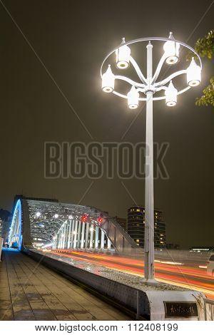 Bridge and street light