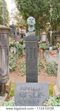 Writer Vitezslav Nezval Tomb In Vysehrad Cemetery, Prague