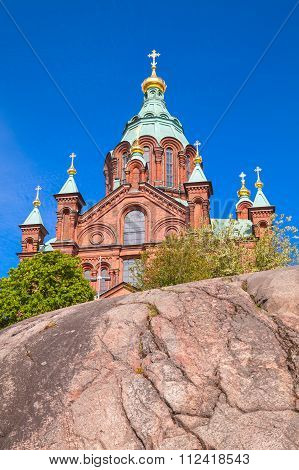 Eastern Orthodox Cathedral In Helsinki, Finland