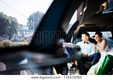 Wedding Couple Indoor The Limousine
