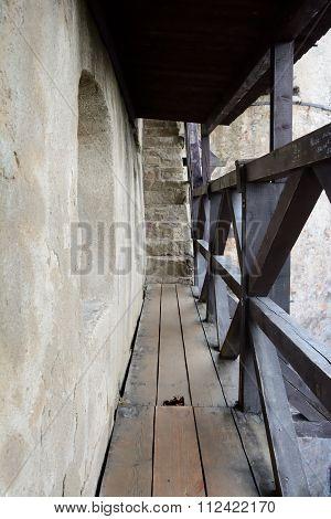 Wooden Catwalk Castle Battlements