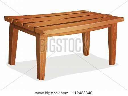 Cartoon Wood Table