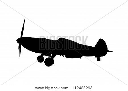 Silhouette Of An Airplane