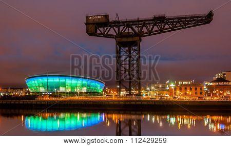 Finneston Crane And Clyde Arc Bridge.