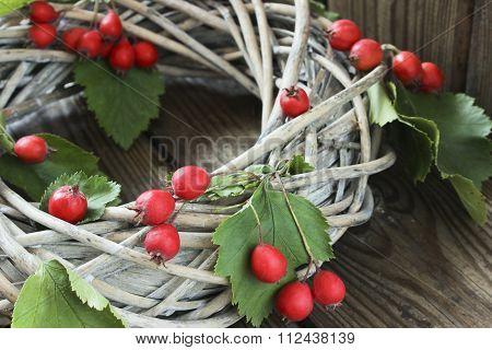 Holiday Door Wreath With Hawthorn