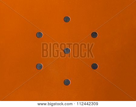 Orange Metal With Design Holes