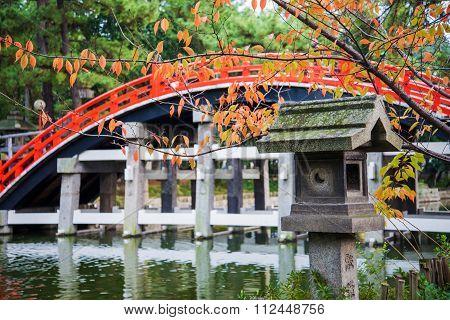 Taiko Bashi Bridge, Bridge To Enter Temple