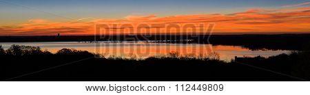 Texas Lake Sunrise Panorama