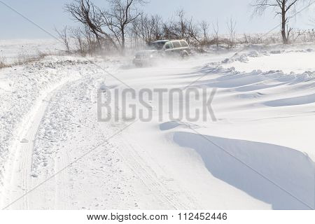 Driving In Drifting Snow