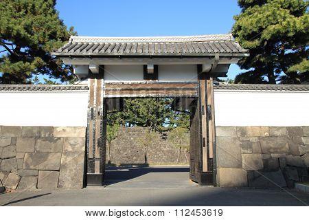 Sakurada gate of Edo castle in Tokyo Japan