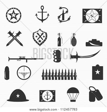 Military Symbols Vector Illustration