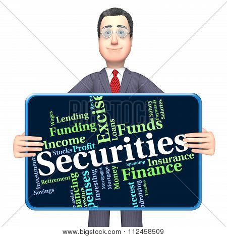 Securities Word Indicates Financial Obligation And Bond