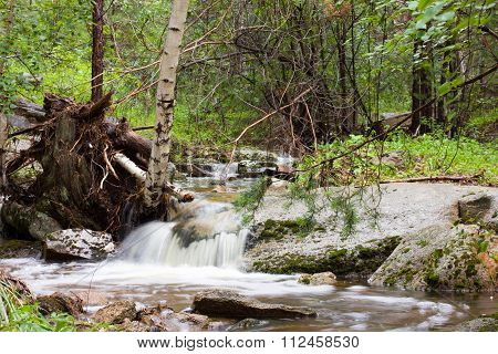 Water stream in motion