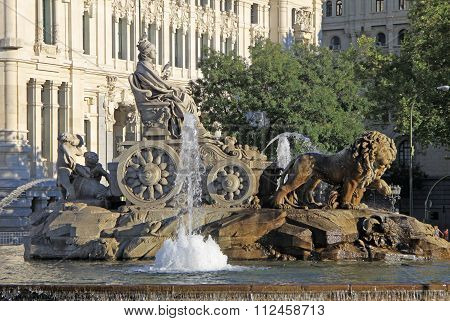 Madrid, Spain - August 23, 2012: Cibeles Fountain At Madrid, Spain