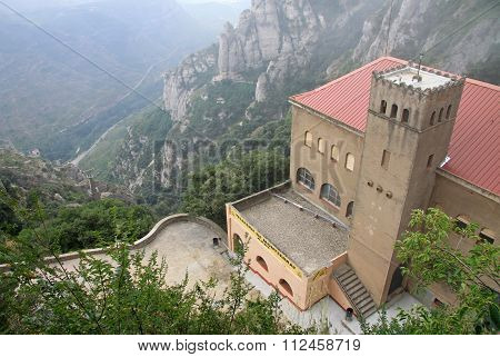 Montserrat, Spain - August 28, 2012: Aerial View To The Station