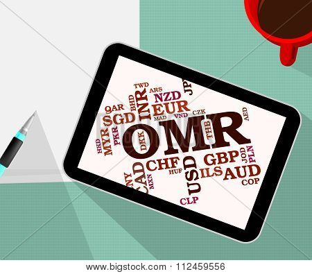 Omr Currency Indicates Oman Rials And Currencies