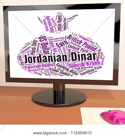 Jordanian Dinar Represents Currency Exchange And Broker