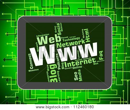 Www Word Shows World Wide Web And Internet