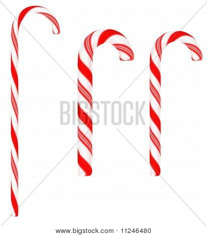 Festive Candy Canes Isolated