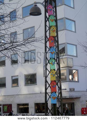 Colourful Bird Boxes