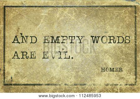 Any Empty Words Homer