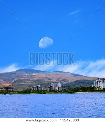 Moonrise Oahu Hawaii