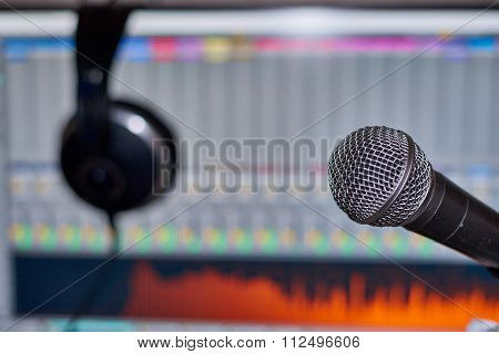 Music Production With Microphone