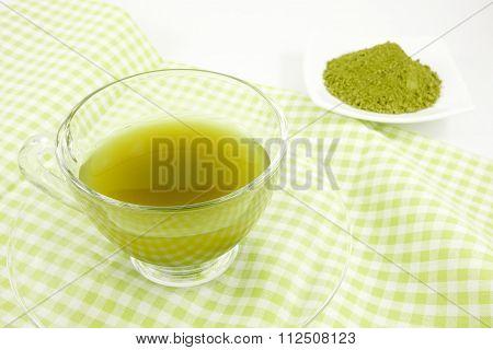 The Japanese matcha green tea