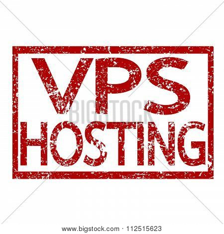 an images of illustration Stamp text VPS HOSTING