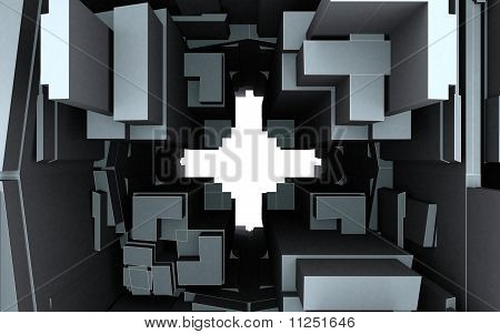 Abstract Urban City Building They Make The Hole Cross poster