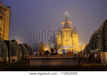 Timisoara City Cathedral Winter