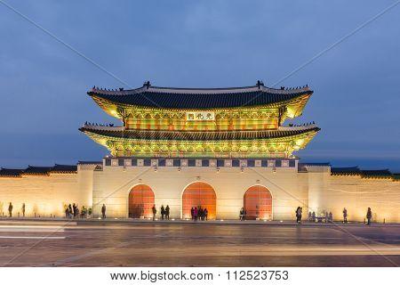 Gyeongbokgung Palace At Nigth In Seoul,south Korea.