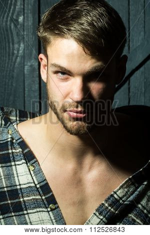 Man In Checkered Shirt